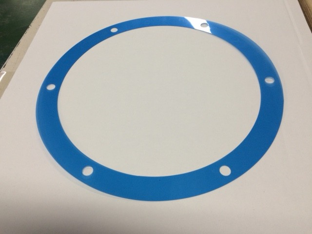 青色PETフィルムで検査用ゲージを作りました